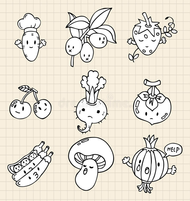 Download Hand Draw Vegetables Element Royalty Free Stock Image - Image: 16794126