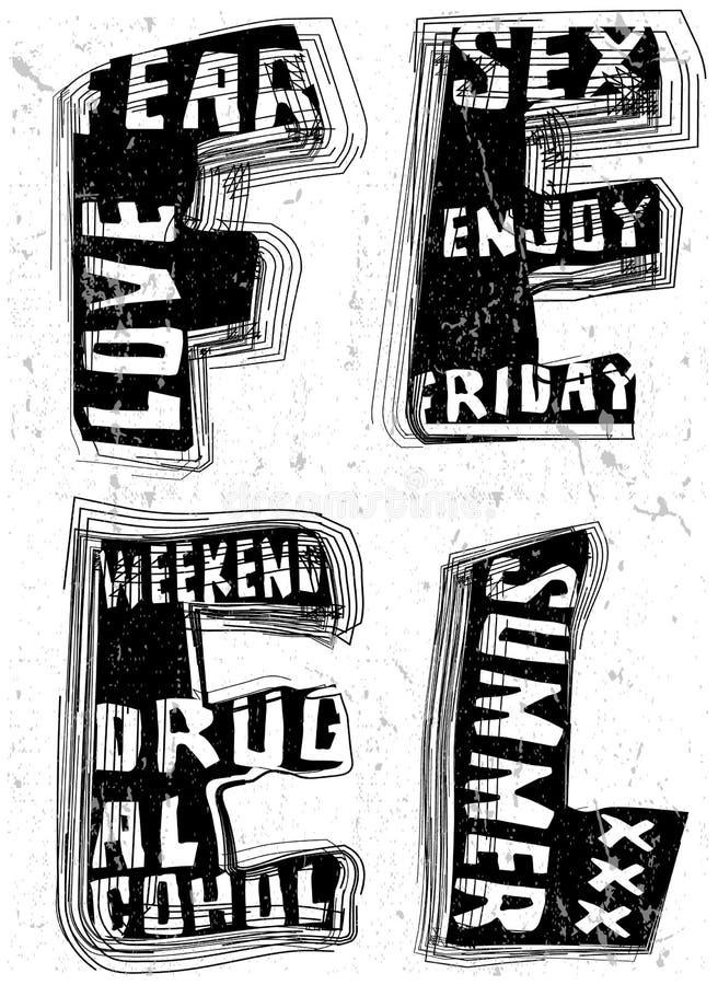 Hand draw Vintage Typography Slogan Man T shirt Graphic Vector D vector illustration