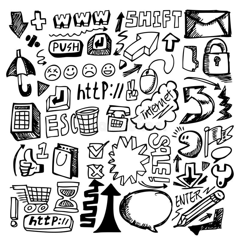 Hand Draw Web Stock Images