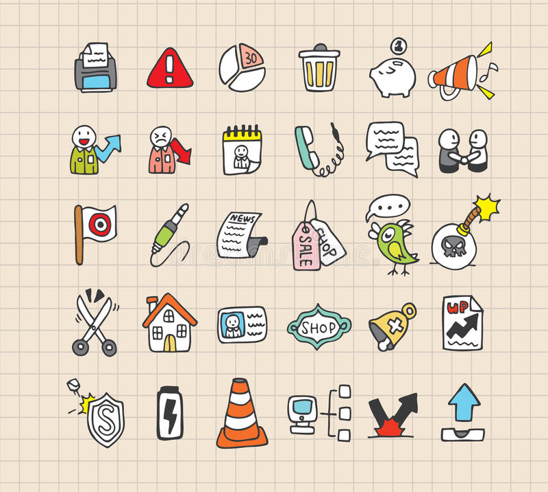 Hand draw web icon vector illustration