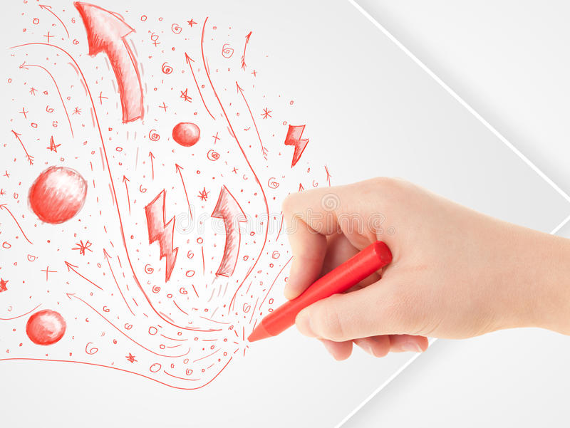Download Hand Drawing Abstract Sketches And Doodles On Paper Stock Illustration - Illustration of drawing, paint: 33303603