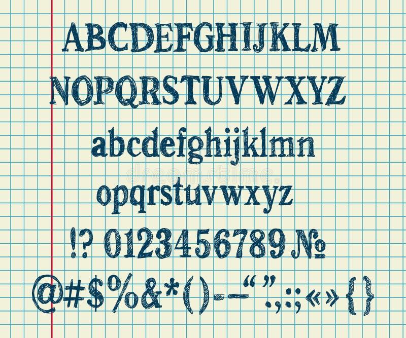 Download Hand drawing alphabet stock vector. Illustration of school - 17867247