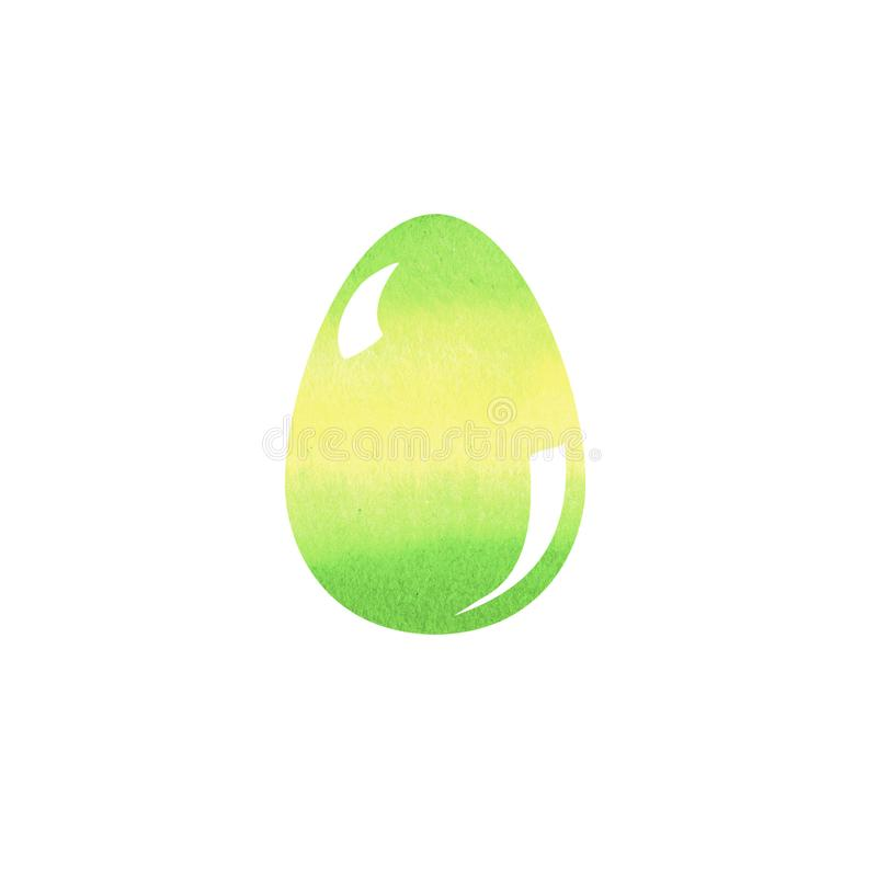 Hand drawing brush colorful Illustration of Easter egg with watercolors .Graphic design with white background. Easter holiday vector illustration