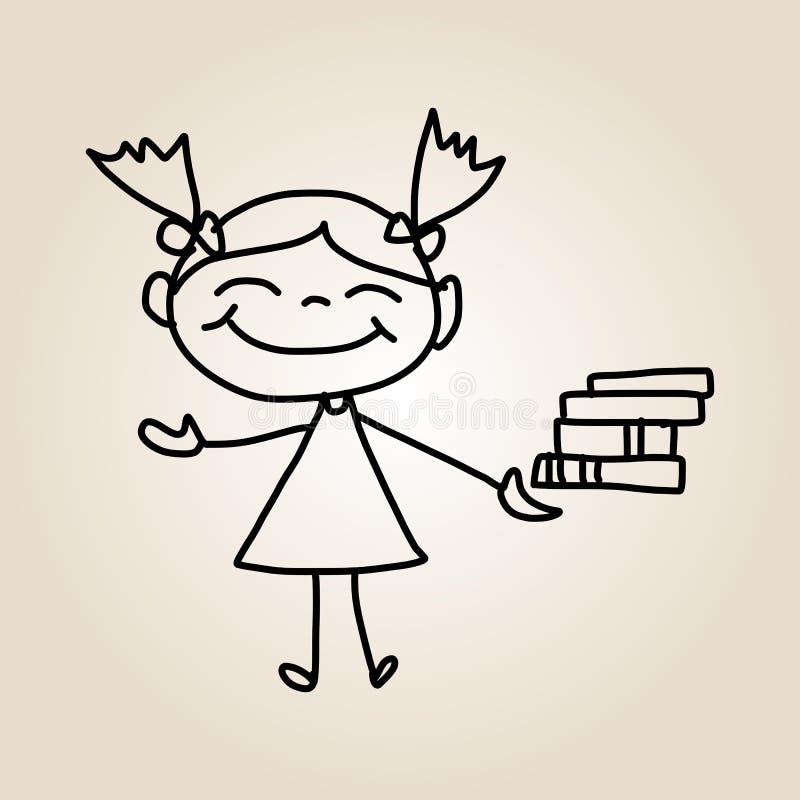 Free Hand Drawing Cartoon Happy Kids Royalty Free Stock Photography - 33596477