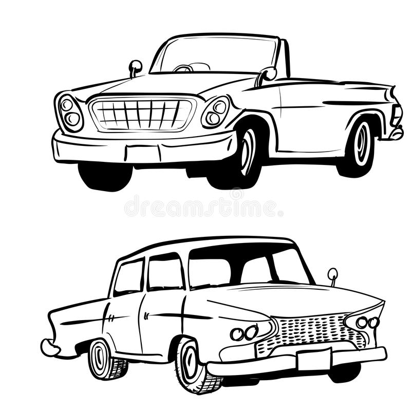 hand drawing classic car vintage car vector illustration stock rh dreamstime com classic car vector free classic car vector graphics