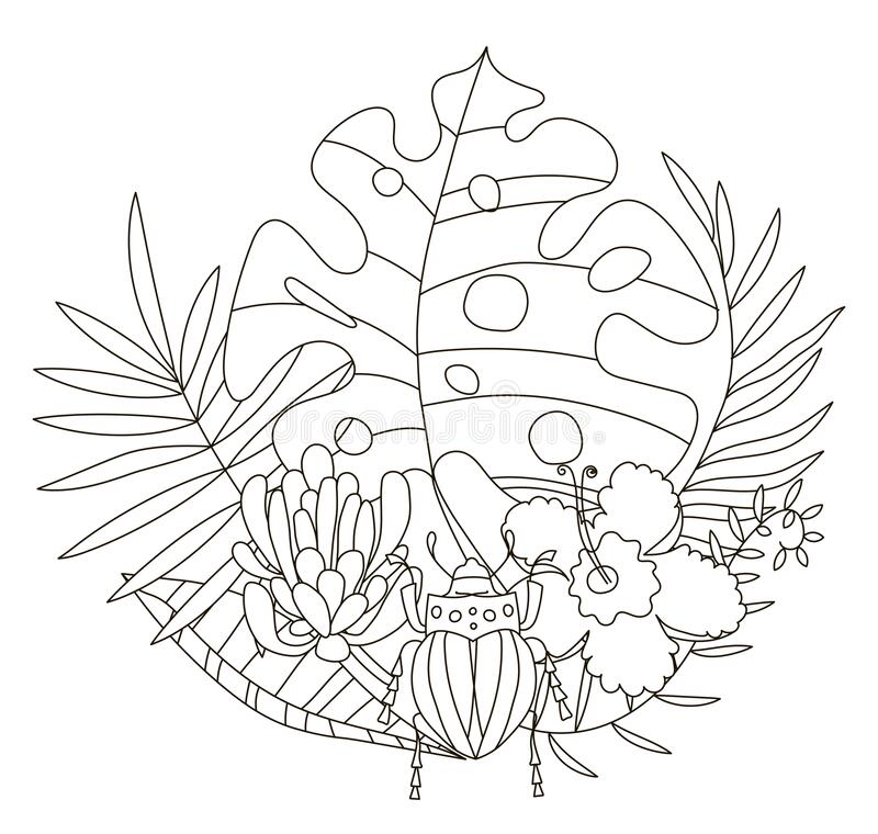 Hand Drawing Coloring Pages For Children And Adults. A Beautiful  Illustration For Creative Coloring With Paints And Pencils Stock Vector -  Illustration Of Adult, Drawing: 170006619