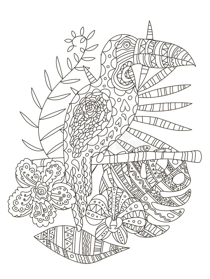 Hand Drawing Coloring Pages For Children And Adults.A Beautiful Pattern  With Small Details For Creativity.Antistress Coloring Book Stock Vector -  Illustration Of Doodle, Antistress: 170006572