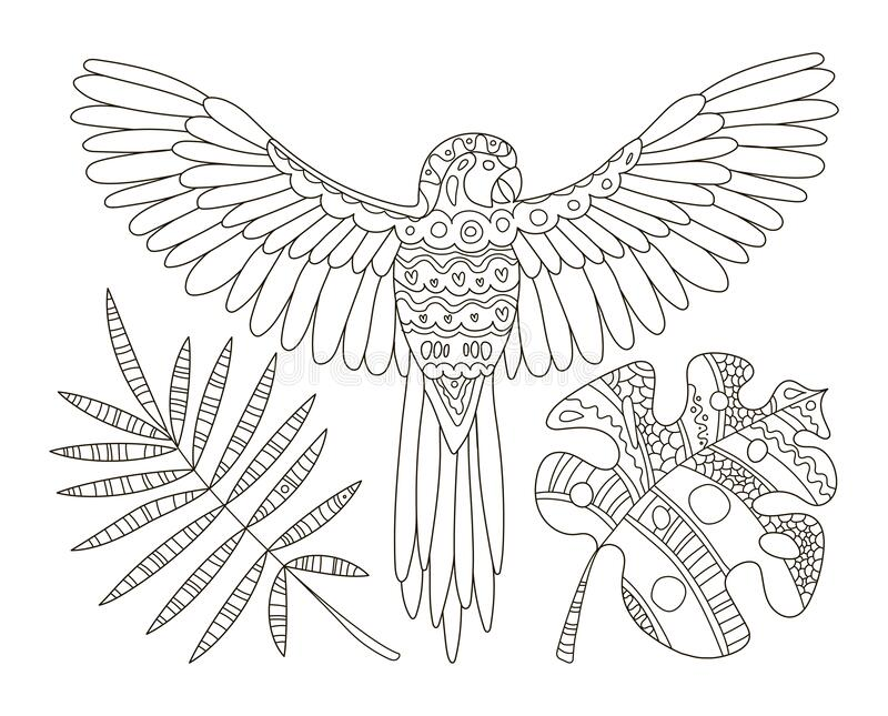 Hand Drawing Coloring Pages For Children And Adults.A Beautiful Pattern  With Small Details For Creativity.Antistress Coloring Book Stock Vector -  Illustration Of Outline, Book: 170006510