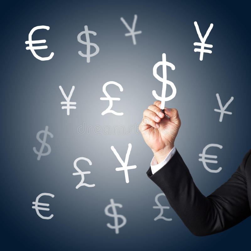 Download Hand Drawing Currency Signs Stock Illustration - Illustration: 25443396