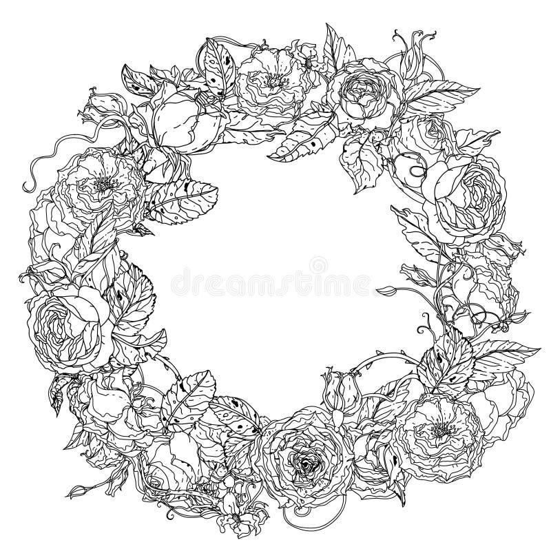 Hand Drawing Element. Black And White. Flower Mandala. Stock Vector ...