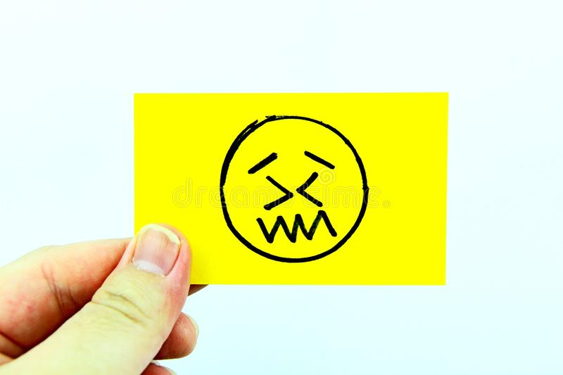 Hand drawing emoji with emoticon face. Hand drawing emoji emoticon face royalty free stock image