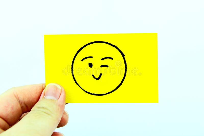 Hand drawing emoji with emoticon face. Hand drawing emoji emoticon face stock photo