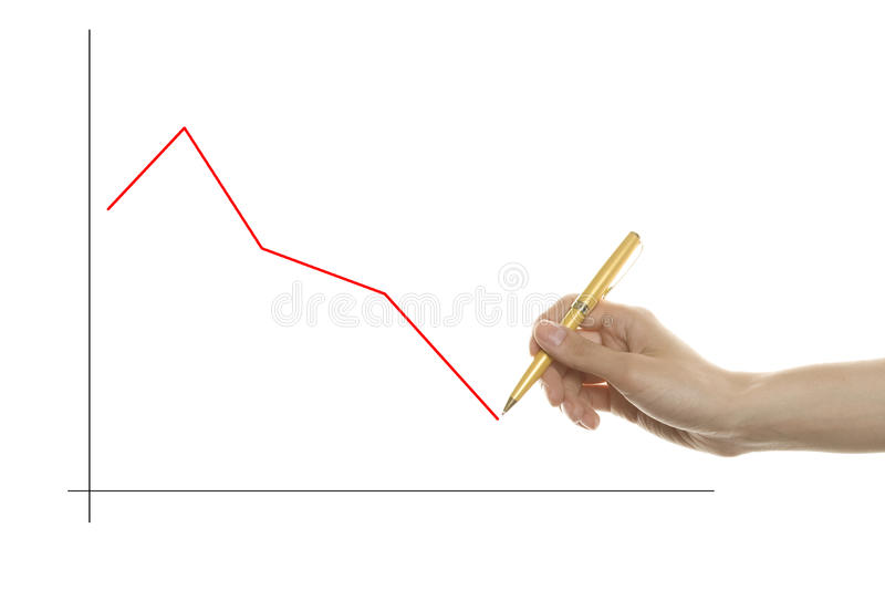 Download Hand drawing graph stock image. Image of isolated, caucasian - 14493621