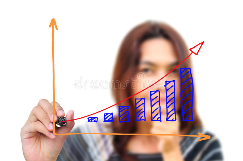Hand Drawing Graph Royalty Free Stock Photography