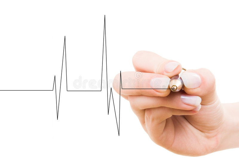 Download Hand drawing heart beat stock photo. Image of healthy - 6377334