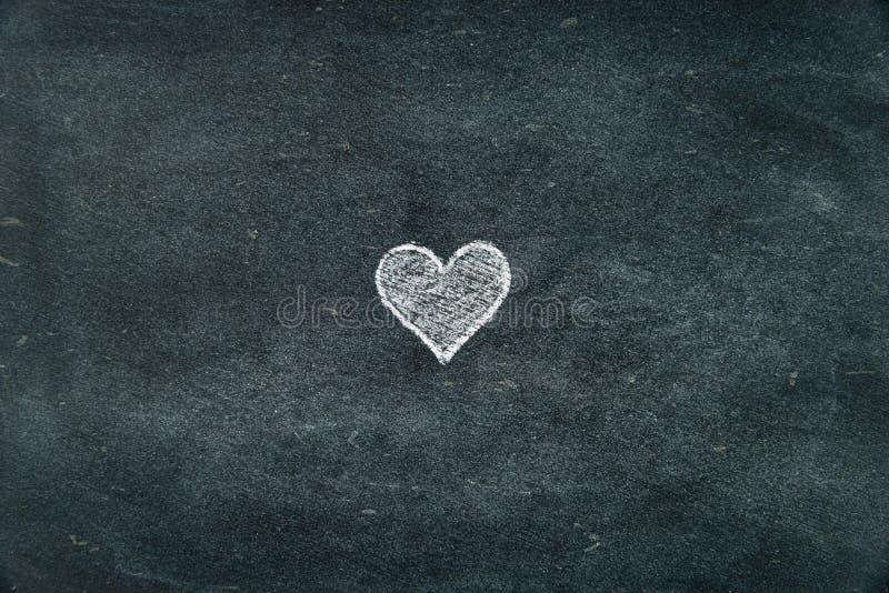 Hand Drawing Heart Shape Symbol On Blackboard Stock Photo Image Of