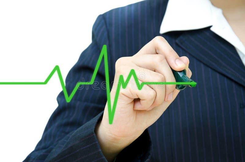 Hand drawing heartbeat symbol. royalty free stock photos