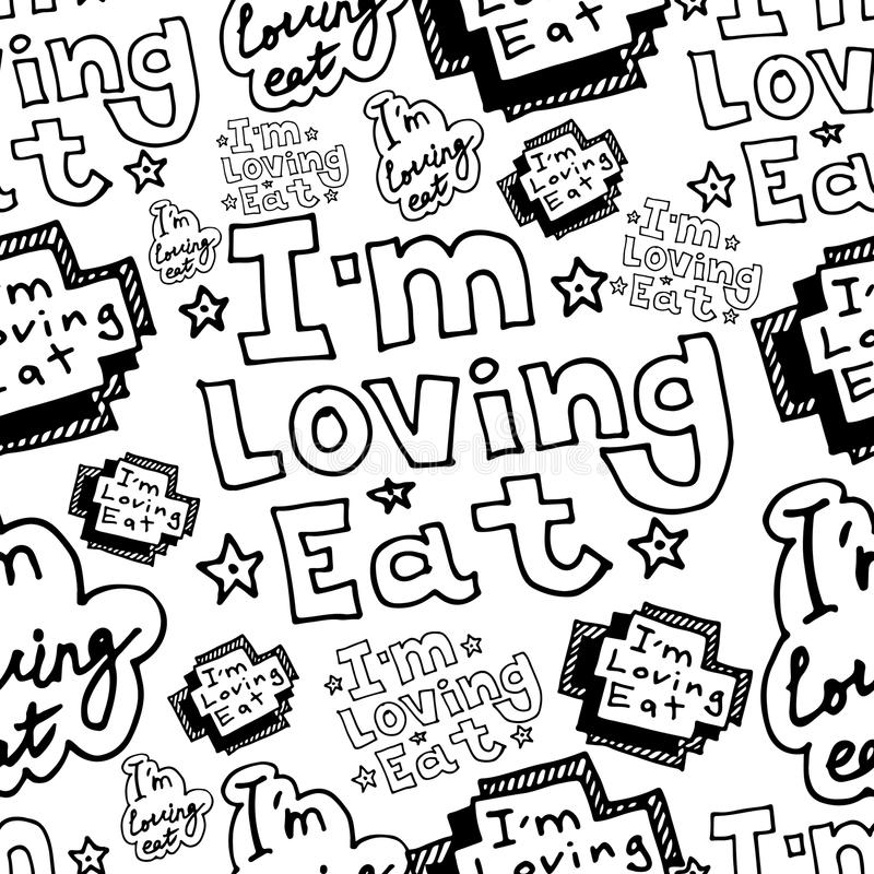 Hand drawing im loving eat letters doodle seamless pattern stock download hand drawing im loving eat letters doodle seamless pattern stock illustration illustration of drawing thecheapjerseys
