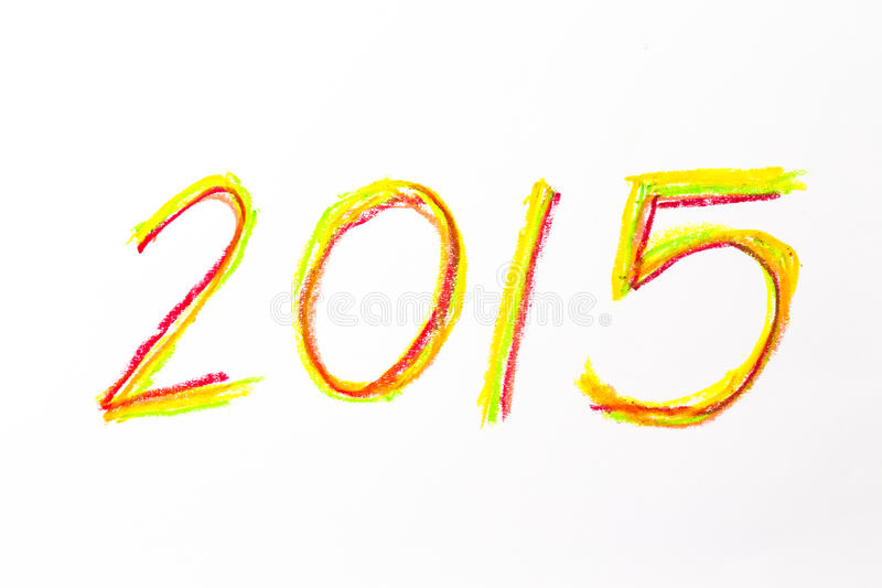 2015 hand drawing for new calendar royalty free stock photo