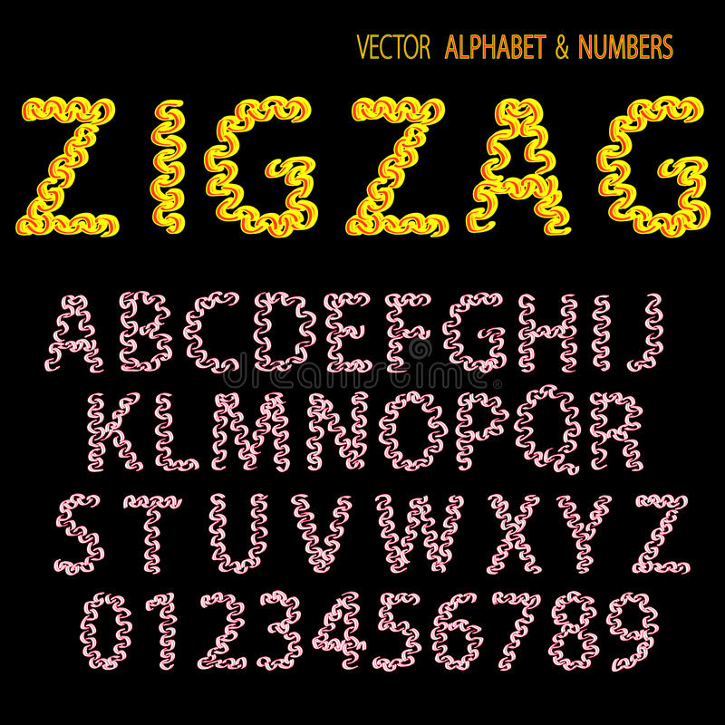 Download Hand Drawing Ornamental Alphabet Zigzag Stock Photo - Image: 20246060