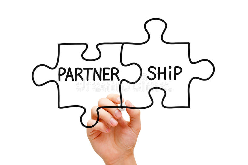 Partnership Puzzle Concept royalty free stock photography