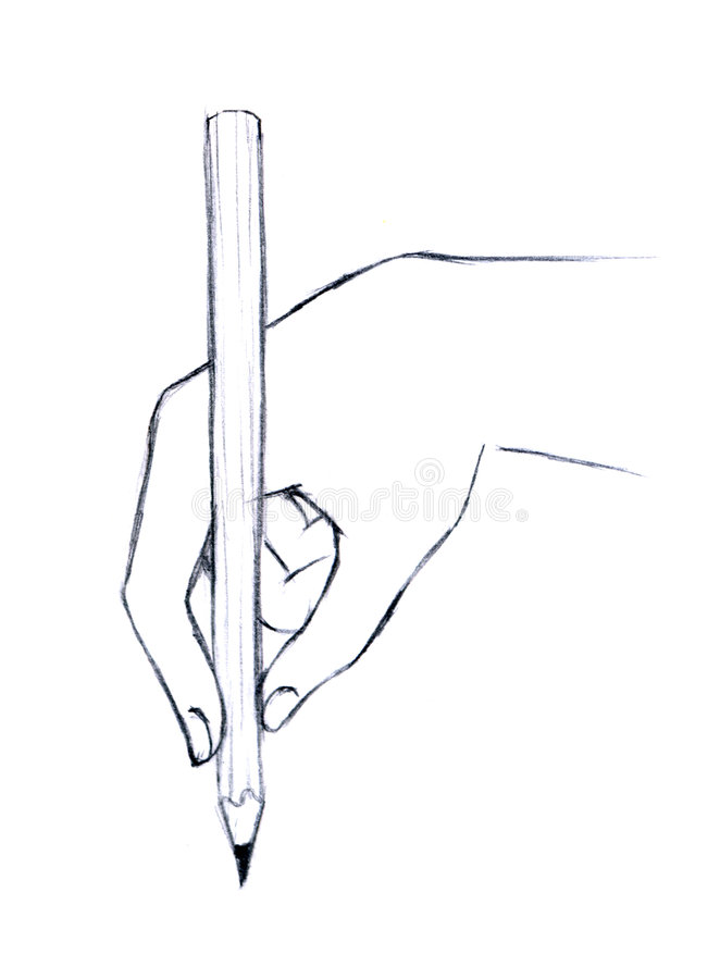 Download Hand drawing with pencil stock illustration. Image of close - 8525557