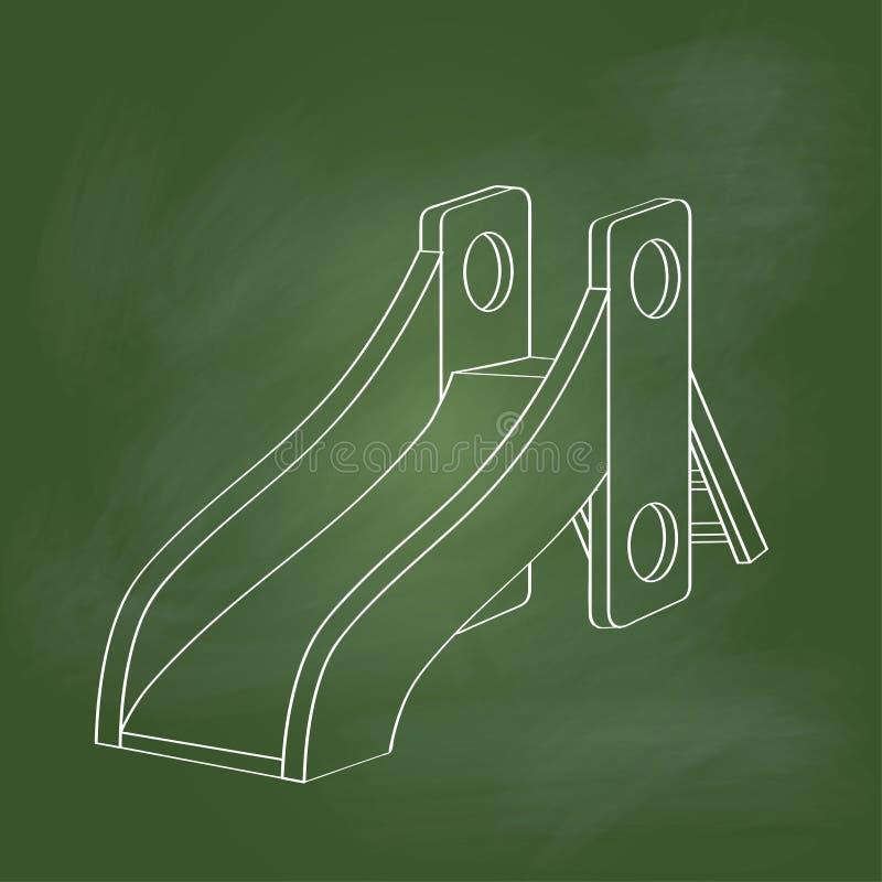 Hand drawing Playground on Green board -Vector illustration vector illustration