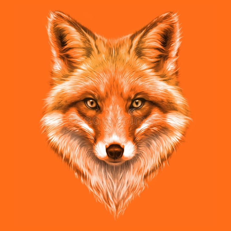Free Hand-drawing Portrait Of A A Red Fox Royalty Free Stock Photos - 108271788