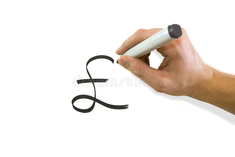 Hand Drawing Pound Sterling Symbol Stock Photo Image Of Money