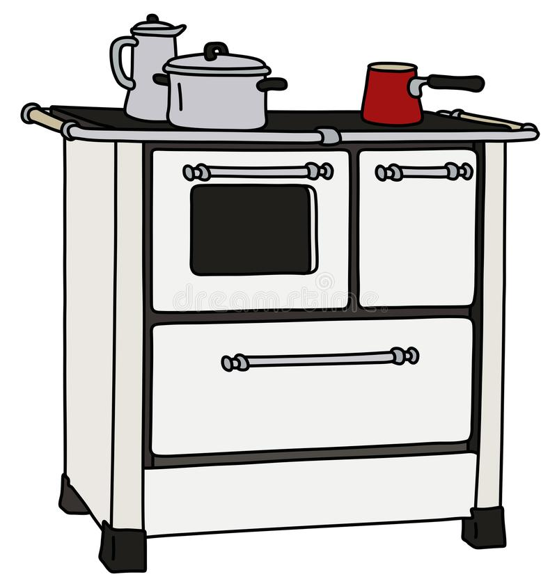 Download The Old Kitchen Stove Stock Vector. Illustration Of Sheet    112736182