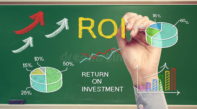 Download Hand Drawing ROI (return On Investment) Royalty Free Stock Image - Image: 37498136