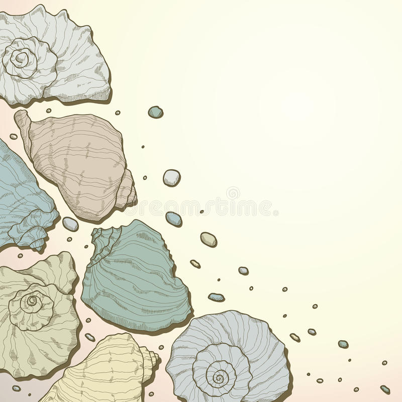 Download Hand Drawing Seashell Background Royalty Free Stock Photography - Image: 28431717