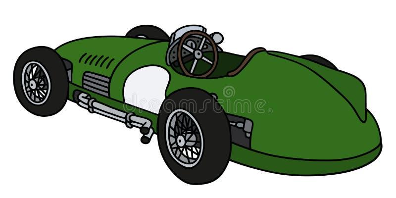 Retro green racing car vector illustration