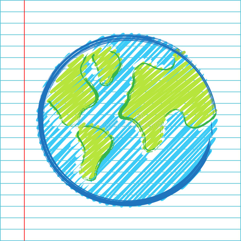 Hand drawing world map. Illustration vector illustration
