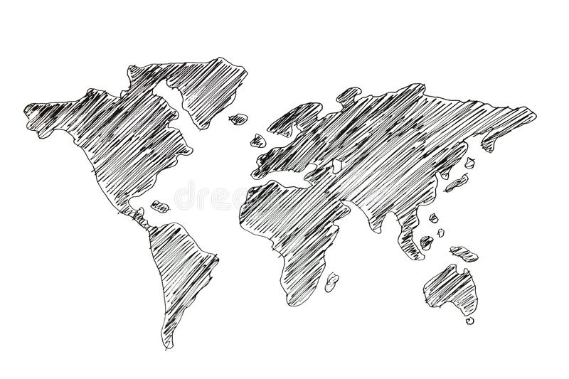 Hand drawing world map stock illustration illustration of america download hand drawing world map stock illustration illustration of america 53232092 gumiabroncs Gallery