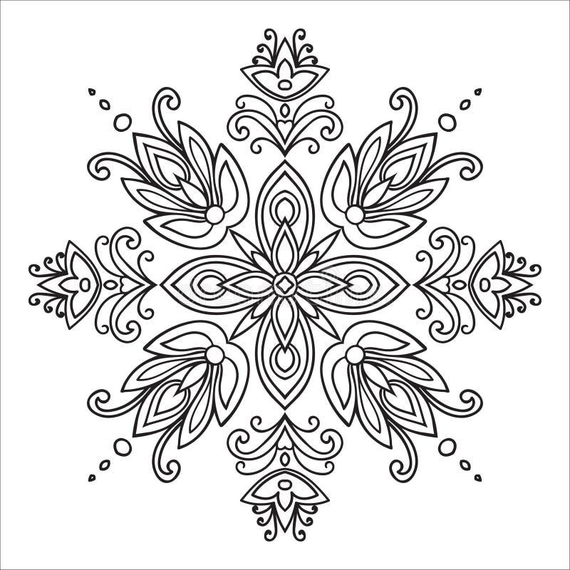 Free Hand Drawing Zentangle Mandala Element. Italian Majolica Style Royalty Free Stock Photo - 58813615