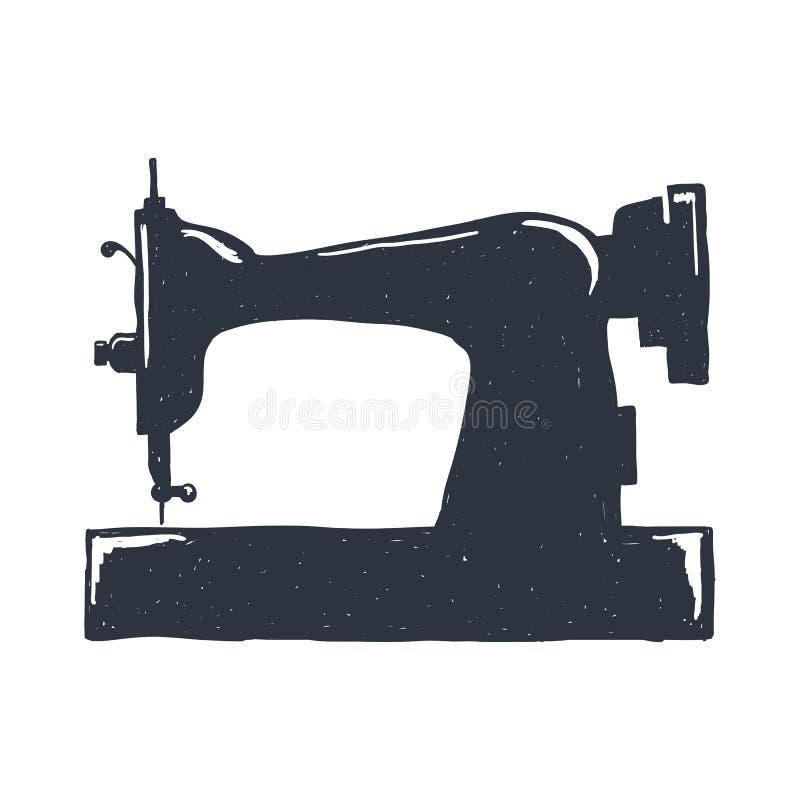 Hand-drawn εκλεκτής ποιότητας ράβοντας μηχανή ελαφρύ ύφος σκίτσων lap-top λάμψης επίσης corel σύρετε το διάνυσμα απεικόνισης Τυπω στοκ φωτογραφία με δικαίωμα ελεύθερης χρήσης