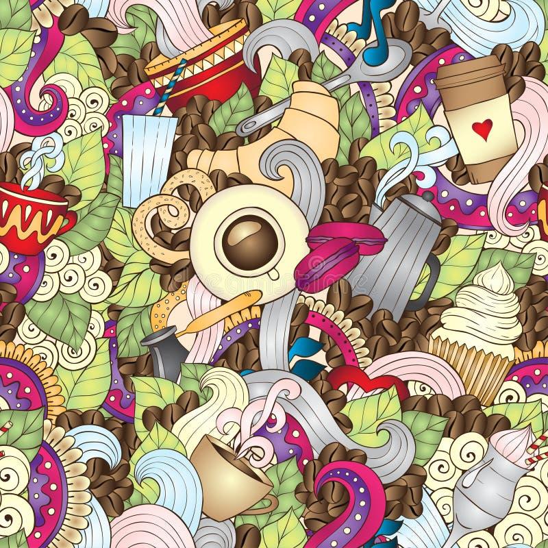 Hand-Drawn διανυσματική απεικόνιση Doodle καφέ διανυσματική απεικόνιση