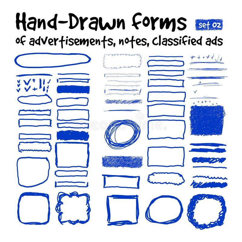 Hand-drawn μορφές διανυσματική απεικόνιση