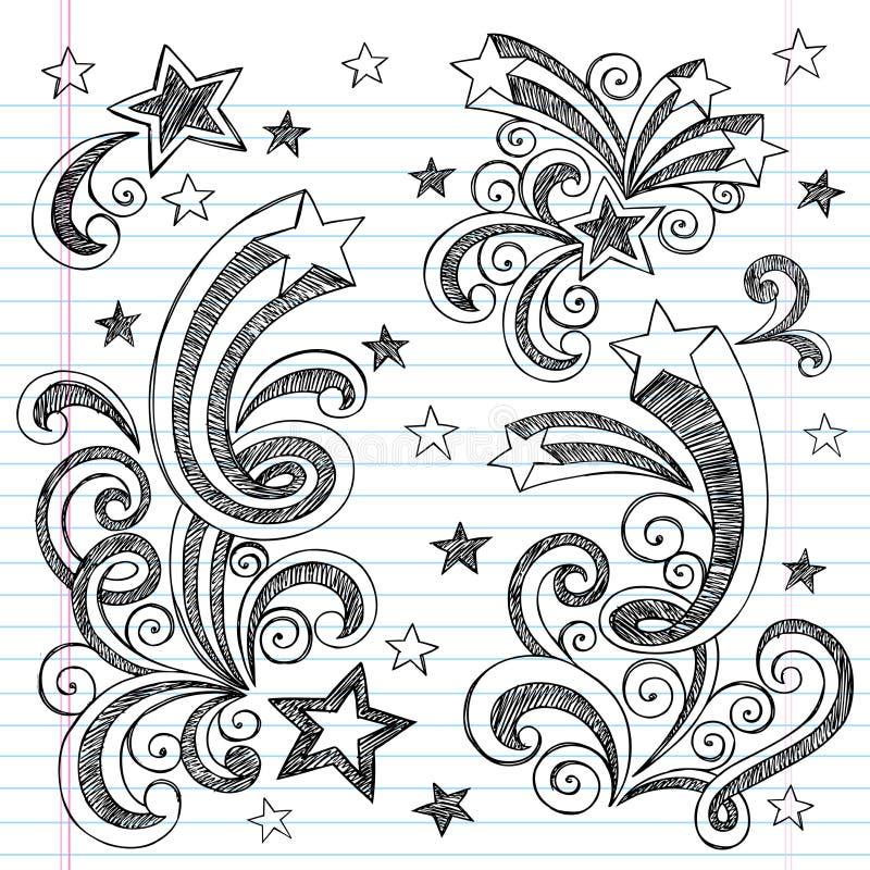 Hand-Drawn περιγραμματικός πίσω στο σχολείο Doodles απεικόνιση αποθεμάτων