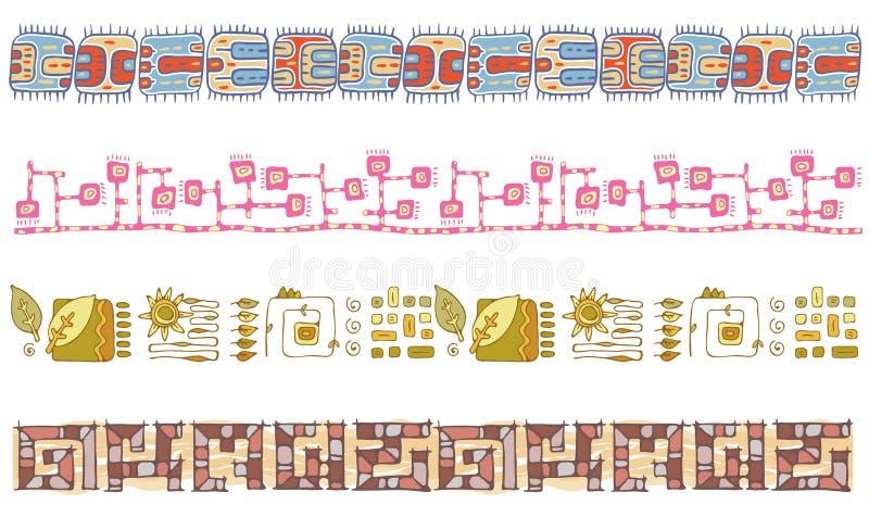 Hand-drawn σύνορα διανυσματική απεικόνιση