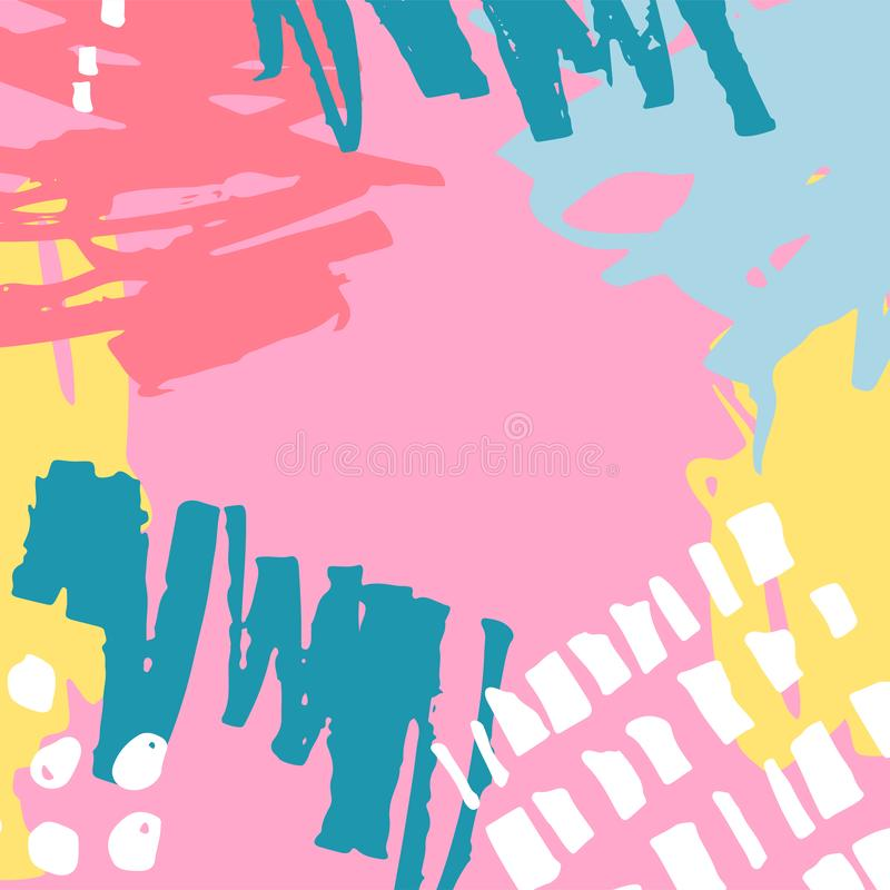 Hand drawn abstract background royalty free illustration