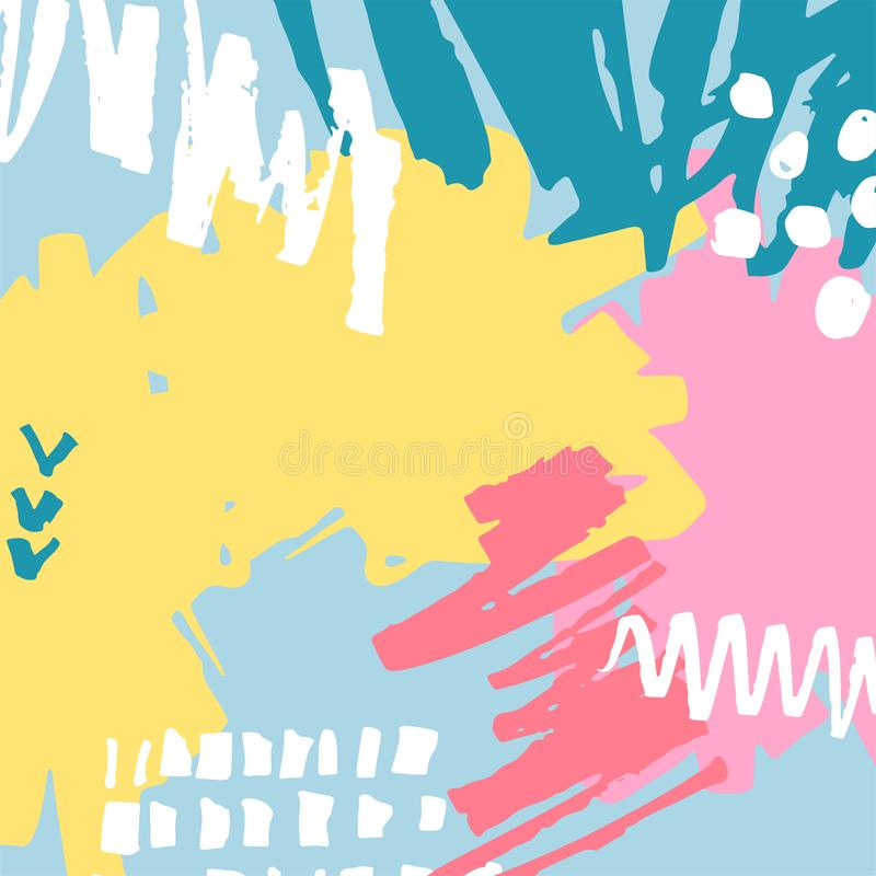 Hand drawn abstract background stock illustration