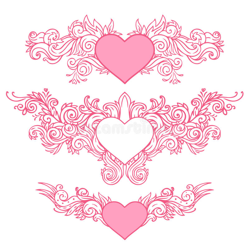 Download Hand-Drawn Abstract Hearts stock vector. Illustration of heart - 22871319