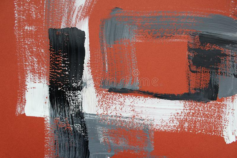 Hand drawn acrylic painting. Abstract art background. Acrylic painting on canvas. Color texture. Fragment of artwork. Brushstrokes. Hand drawn acrylic painting stock photography