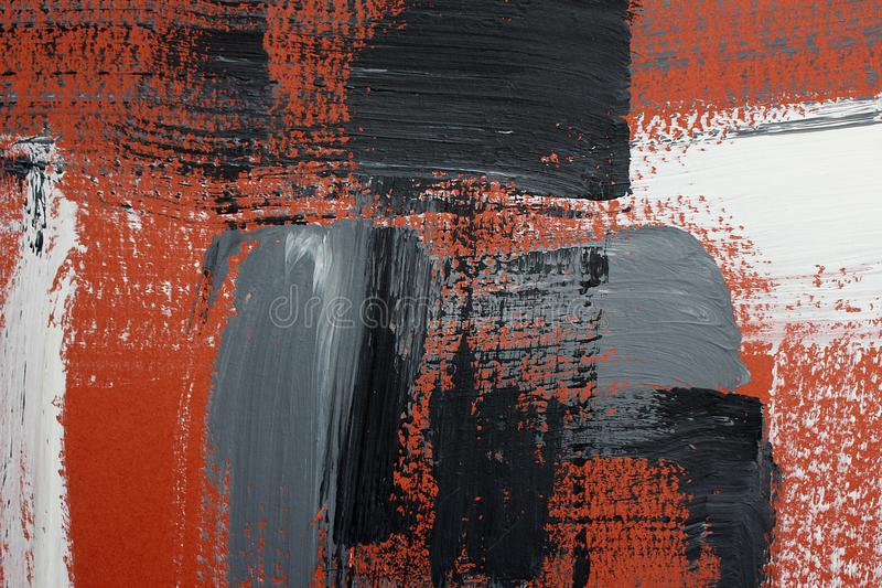 Hand drawn acrylic painting. Abstract art background. Acrylic painting on canvas. Color texture. Fragment of artwork. Brushstrokes. Hand drawn acrylic painting royalty free stock photo