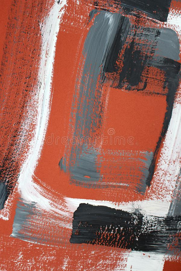 Hand drawn acrylic painting. Abstract art background. Acrylic painting on canvas. Color texture. Fragment of artwork. Brushstrokes. Hand drawn acrylic painting stock images