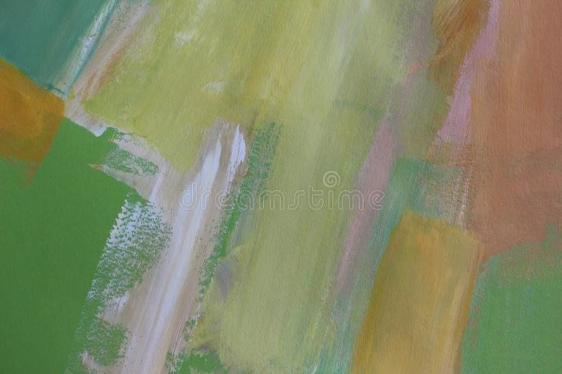 Hand drawn acrylic painting. Abstract art background. Closeup shot of strokes colorful acrylic paint on canvas with brush strokes royalty free stock photos