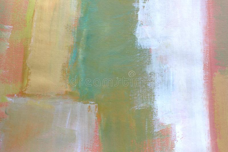 Hand drawn acrylic painting. Abstract art background. Closeup shot of strokes colorful acrylic paint on canvas with brush strokes royalty free stock image