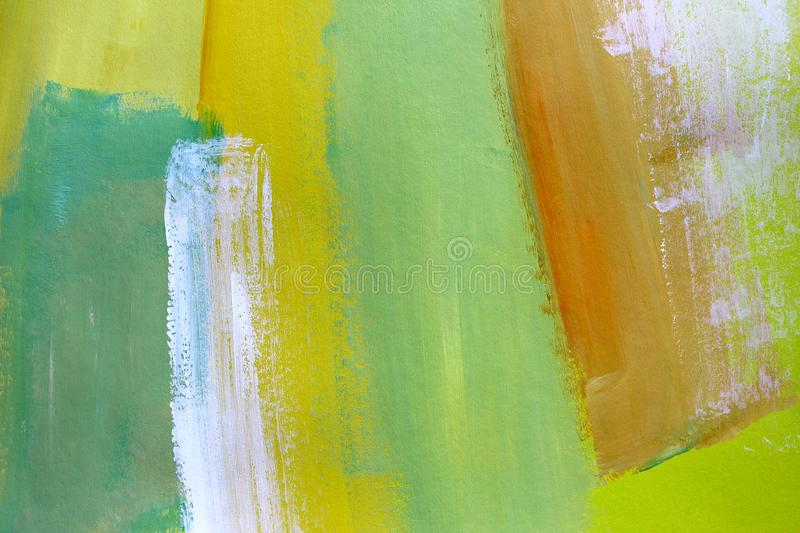 Hand drawn acrylic painting. Abstract art background. Closeup shot of strokes colorful acrylic paint on canvas with brush strokes royalty free stock images